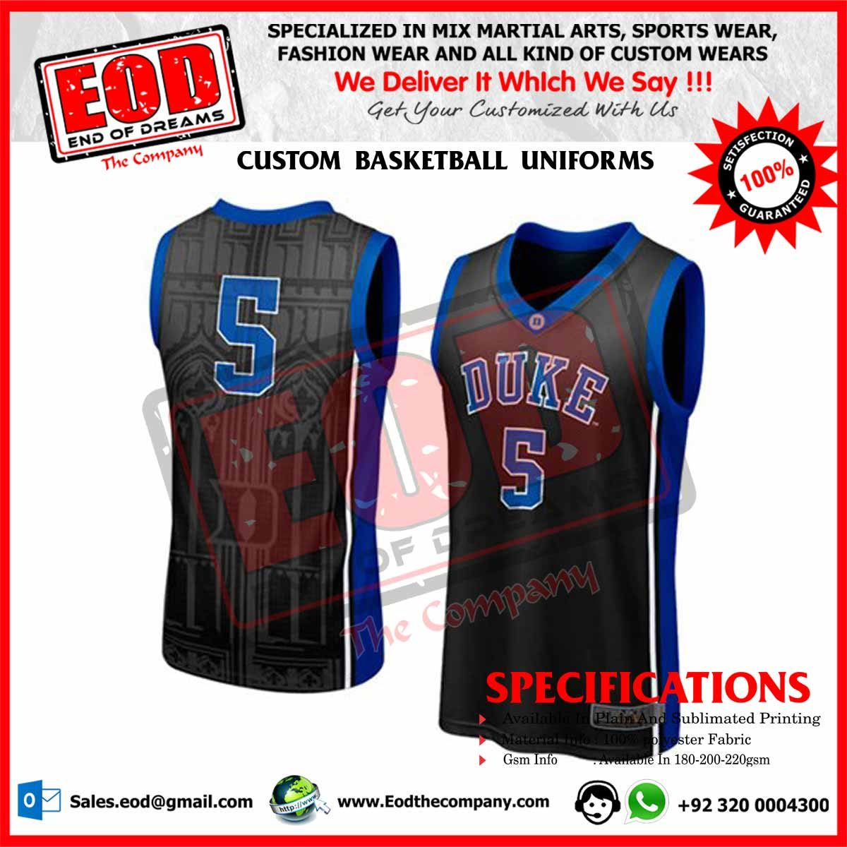 3973d7a5887 Custom Basketball Uniforms - EOD The Company