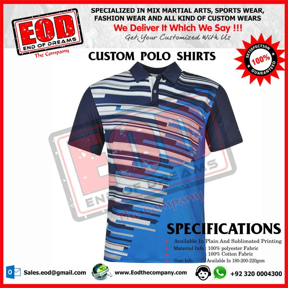 Custom Polo Shirt Printing Summer Cook