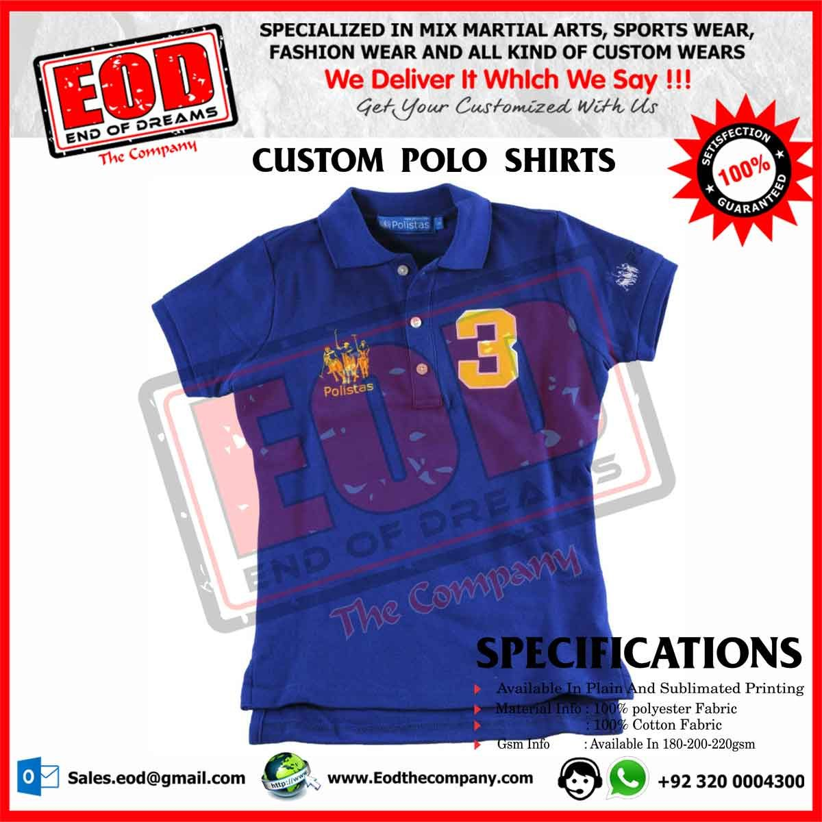Custom Polo Shirts Eod The Company